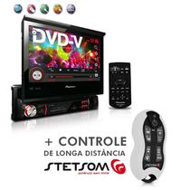 "Dvd Player Avh-3880Dvd 7"" 1Din Entrada Usb Am Fm Retrátil + Controle SX2 Branco - Pioneer"