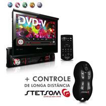 "Dvd Player Avh-3880Dvd 7"" 1Din Entrada Usb Am Fm Retrátil + Controle SX2 Preto - Pioneer"