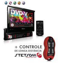 "Dvd Player Avh-3880Dvd 7"" 1Din Entrada Usb Am Fm Retrátil + Controle SX2 Vermelho - Pioneer"