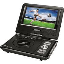 """DVD Player D-08 Portátil Play Action,  Tela Giratória de 7"""" , Entrada USB e SD, Função Game, 2 Joysticks - Mondial -"""