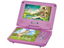 DVD Player Infantil Portátil D-12 Fadas Encantadas - Função Karaokê USB