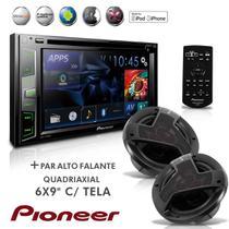 "Dvd Player Mixtrax 2 Din AVH X2780BT 6,2"" Usb Bluetooth + Alto Falante Quadriaxial 6x9 - Pioneer"