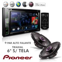 "Dvd Player Mixtrax 2 Din AVH X2780BT 6,2""  Usb Bluetooth + Alto Falante Triaxial 6'' Sem Tela - Pioneer"