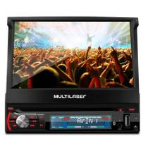 DVD Player Multilaser Extreme GP044 7 Pol Retrátil Bluetooth GPS TV USB MP3 Mirror