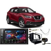 DVD Player Nissan Kicks 2016 a 2020 AVH-G218BT Pioneer + Câmera de ré + Chicotes + Moldura 2din -