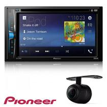Dvd Player Pioneer Avh-a208bt Bluetooth Usb Aux 2 Din 6.2 polegadas + Camera de Re - Pionner