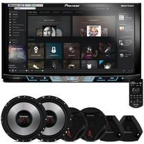 "DVD Player Pioneer AVH-X598TV 2 Din 7"" + Kit 2 Vias Bomber Upgrade 6"" 400W RMS - Prime"