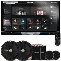 "DVD Player Pioneer AVH-X598TV 2 Din 7"" + Kit 2 Vias Pioneer TS-C170BR 6"" 120W RMS - Prime"