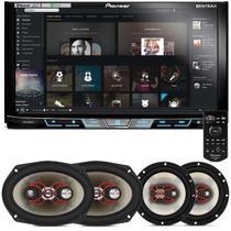 """DVD Player Pioneer AVH-X598TV 2 Din 7"""" + Kit Fácil Bravox 6"""" e 6x9"""" 240W RMS - Prime"""