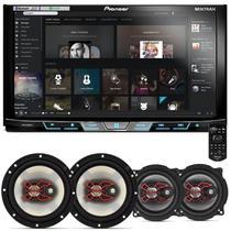 """DVD Player Pioneer AVH-X598TV 2 Din 7"""" + Par Alto Falantes Bravox 5"""" e 6"""" 200W RMS - Prime"""