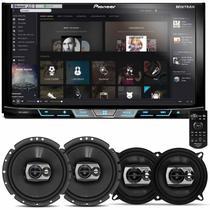 DVD Player Pioneer AVH-X598TV 2 Din 7 Polegadas + Par Alto Falantes 5 e 6 Polegadas 240W RMS -