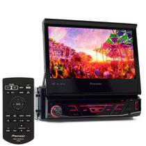 Dvd Player Pioneer Retratil Tela 7 polegadas Avh-3180bt Bluetooth Usb auxiliar -