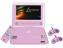 """DVD Player Portátil Lenoxx DT-509 Tela LCD 7"""" - Conexão USB Ripping e Função Karaokê"""