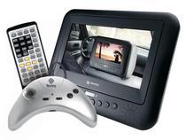 """DVD Player Portátil Tectoy DVT-T6001 LED 7"""" - c/ Entrada USB e Função Ripping"""