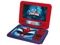 """DVD Player Portátil Tectoy Homem Aranha DVT-P3900 - Tela Giratória LCD 7"""" e Entrada USB"""