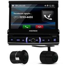 Dvd Player Pósitron Retrtil 7 Pol Usb Sd Bluetooth Sp6320bt + Câmera Ré - Positron