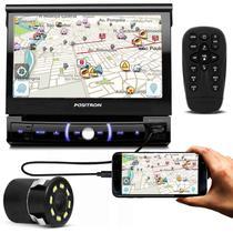 DVD Player Pósitron SP6730DTV 7'' Retrátil Bluetooth Espelhamento TV USB + Câmera Ré Noturna 8 Leds - Positron