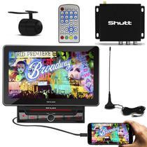 DVD Player Shutt Broadway 2 Din 10.1 Pol Espelhamento MP3 + Receptor TV Digital TV-10 ISDB-T -