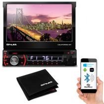DVD Player Shutt Califórnia BT Bluetooth 7 Pol Retrátil MP3 + Carteira de Bolso Shutt Couro Legítimo - Prime
