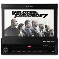 Dvd Player Ucb Dr170 7 Polegadas Retrátil Usb Aux Am Fm Frontal -