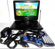 Dvd Portátil 9.8 Polegadas Rádio Fm 300 Games Lcd TV Analógica 800 X 480 dpi - Portable
