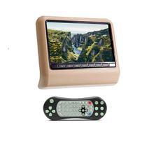 DVD Portátil Encosto Cabeça Bege Tela 9 Polegadas USB SD Game Wireless Joystick - First Option