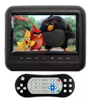 Dvd Portatíl Encosto Cabeça Tela 7 Pol Jogo Usb Sd Dvd Preto - First Option