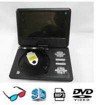 Dvd Portátil Tela 9.8 Usb Cd Sd Tv Digital Novo - Tomate