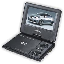 Dvd Portatil Tv Digital 12 Volts -7 Polegadas -Com Carregador Veicular 110/220v/12 V - Napoli