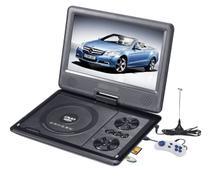 Dvd Portatil Tv Tela 9.8 Lcd Gira 270º Sd Usb Fm com cd Jogos + controle video game -