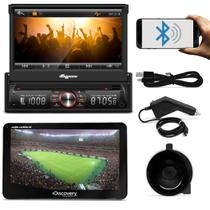 DVD Quatro Rodas MTC6617 1 Din 7 Pol Retrátil Bluetooth USB + GPS Discovery Channel 7.0 TV Outlet