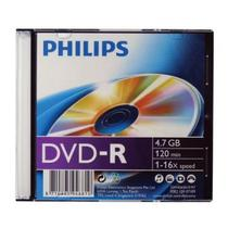 DVD-R 16X 120MIN 4.7GB Slim Case Un Philips