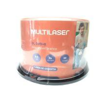 DVD+R 8.5GB 8X Dual Layer Printable - Multilaser - 50 Unidades - Multilaser Industrial S/A