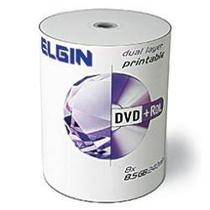 Dvd+r Dl Elgin 8.5Gb Dual Layer Printable Umedisc 100 Unidades -