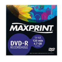 DVD-R Gravável 4.7GB Envelope Maxprint -
