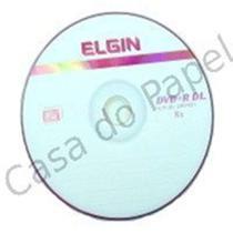 DVD+R Gravável Dual Layer 8.5GB 240min 2.4X-8X Elgin com 25 Unidades -