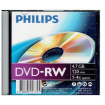 DVD+RW 4X 120Min 4.7GB Slim Case Philips (Un)