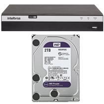 Dvr Stand Alone Intelbras 8 Canais MHDX 3108 Full HD 1080p + HD 2 Tera WD Purple -