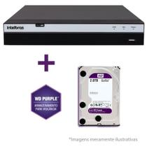 DVR Stand Alone Intelbras MHDX 3016 16 Canais Full HD 1080p Multi HD + 08 Canais IP 5 Mp + HD WD Purple 1TB