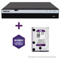 DVR Stand Alone Intelbras MHDX 3116 16 Canais Full HD 1080p Multi HD + 08 Canais IP 5 Mp + HD WD Purple 1TB