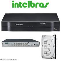 DVR Stand Alone Multi HD Intelbras MHDX-1108 8 Canais + HD 500GB  de CFTV -