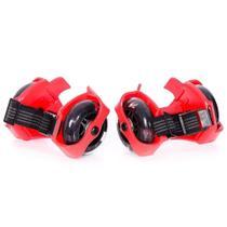 Easy Roller - Rodinhas para Tênis com Led - Adaptador de Patins - Vermelho - Easy Fun -