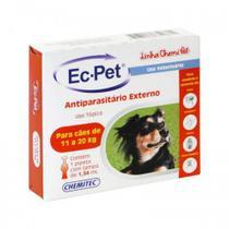 Ec Pet 1,34ml - De 11 A 20kg -2 Unidades - Chemitec
