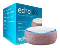 Echo Dot 3ª Geração Smart Speaker - rosa