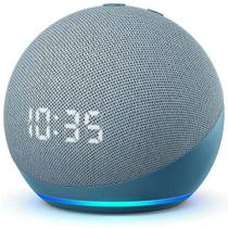 ECHO DOT 4ª GER.COM ALEXA E RELÓGIO  SMART SPEAKER BLUETOOTH/WI-FI AZUL  AMAZON
