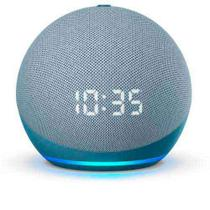 Echo Dot (4ª geração) Smart Speaker Amazon com Relógio e Alexa Azul -