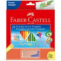 Eco Lapis de Cor Triangular Faber Castell 24 cores - FABER-CASTELL