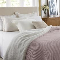 Edredom Casal Corttex Boreal Home Design Rosa Antigo -