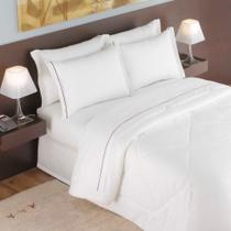 Edredom Casal Para Hotel Teka Madri Branco 180 Fios -