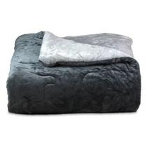 Edredom Cobertor King Plush Flanel Dupla Face Bicolor Metal Buettner -